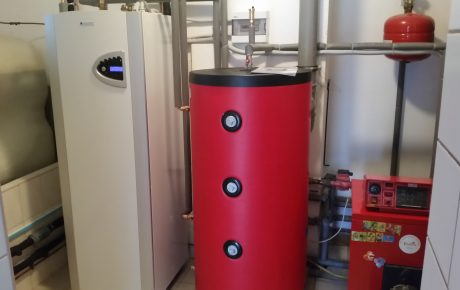 Kotłownia pompa ciepła z kotłem olejowym