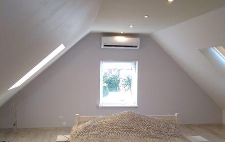 Klimator ścienny Żagań Chrobrów w sypialni