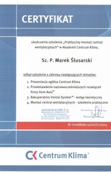 Certyfikat-Centrum-Klima-Marek-Ślusarski-724x1024